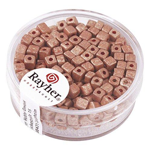 Rayher 14308254 metallic kubus, mat, 3,4 mm, doos 15 g, zachtroze