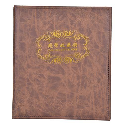 Álbum De Monedas, álbum De Billetes Duradero, Resistente Para Coleccionistas De Monedas, Amigos, Dinero A Casa(marrón)