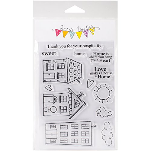 """Jane's Doodles Sweet Home Clear Stamps, 4"""" x 6"""""""