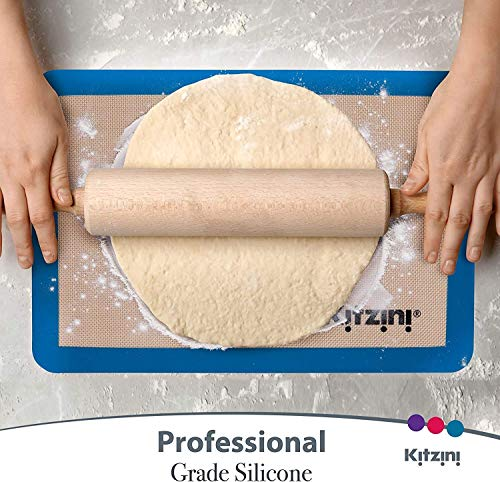 Professional Grade Silicone Baking Mats Non Slip with Silicone x 6 mats - Also Included Macaron Silicone Baking Mats