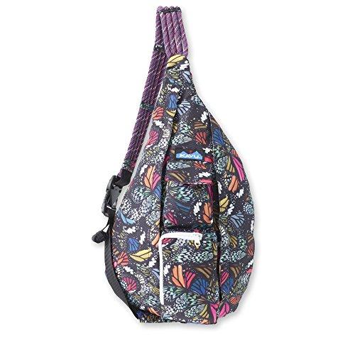 KAVU Original Rope Sling Bag Polyester Crossbody Backpack - Flutterfly