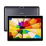 JANWIL Tablet Android 9.0 Touch mit 10 Zoll Quad-Core RAM 4 GB ROM 64 GB Kamera 5 MP + 8 MP / WLAN / GPS / Typ C / 6000 mAh Akku / Dual-SIM-Karte Lamada 3G Tablet (SCHWARZ)