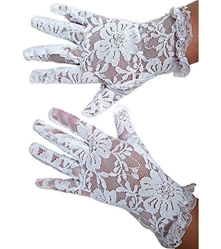 White Lace Communion Gloves toddlers. Super Cute Boys & Girls. Special Occasion. Wedding. Christmas. Dress Outfit