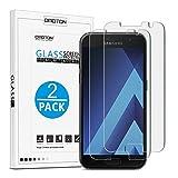 OMOTON [2 Stück] Panzerglas Schutzfolie für Samsung Galaxy A3 2017, 9H Festigkeit, Anti-Kratzen, Anti-Öl, Anti-Bläschen,2.5D abger&ete Kanten