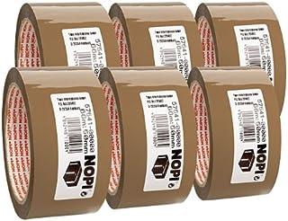 Packband Nopi® Pack 66 m x 50 mm, bruin Set van 6 stuks