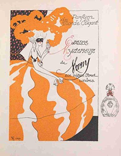 A4 Photo Gazette du Bon Genre 1912 Parfum du Monde Elegant Poster