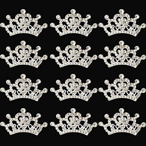 XiangGuanQianYing Princess Crown Comb Tiara Hair Clips for Princess Party Favor 12 pcs