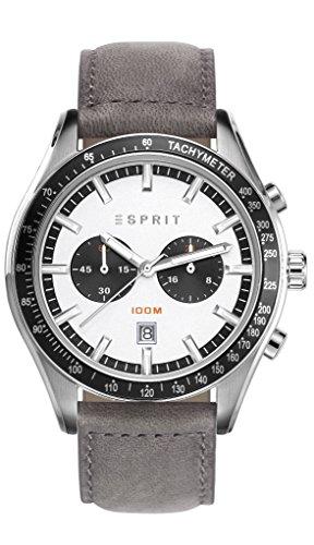 Esprit - Ryan Orologio da Polso Cronografo, da Uomo, Cinturino in Pelle,...