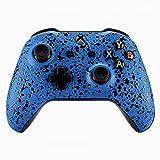 eXtremeRate Funda Delantera Carcasa Protectora de la Placa Frontal Cubierta Esmerilada Antideslizante para el Mando del Xbox One S y Xbox One X (Model 1708) Azul Texturizado