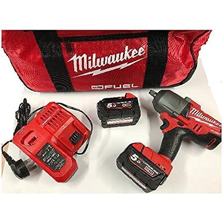 Milwaukee Schlagschrauber 1 2 Zoll M18 Chiwf12 502c Fuel 2 X 5 0 Ah Baumarkt