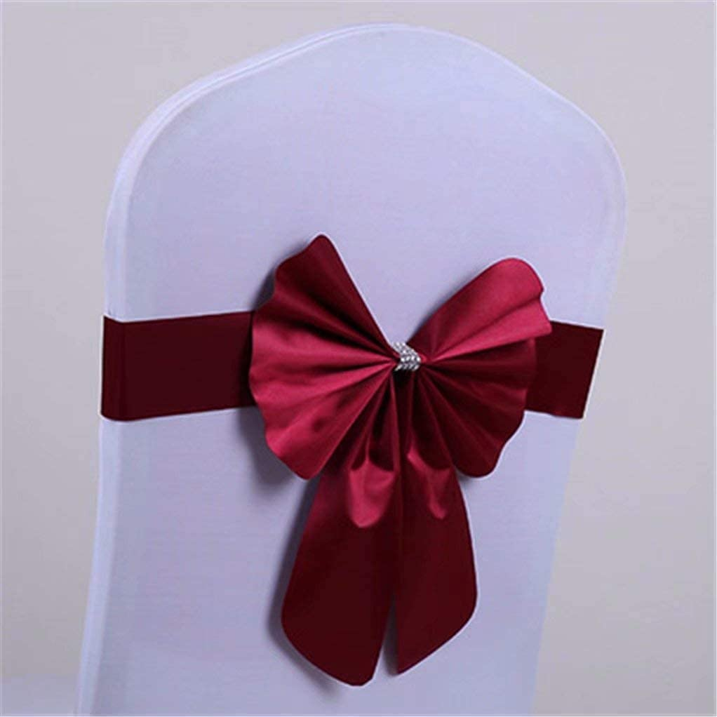 Wedding Chair Sashes Elastic Cheap mail order sales Store Slider Spandex Bow Band Cover