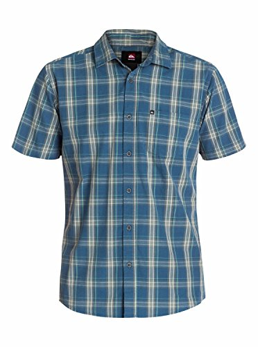 Quiksilver Everyday Check Chemise manches courtes Homme Surfside Dark Shadow FR : L (Taille Fabricant : L)