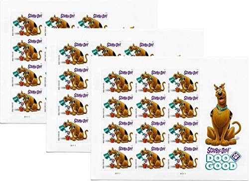 USPS Scooby-Doo! Pane of 12 First-Class Forever Stamps Scott 5299 (3 Sheets of 12)