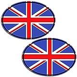 Biomar Labs® 2 x Adesivi Vinile Ovale Bandiera Nazionale della Gran Bretagna UK Inghilterra Union Jack per Auto Moto Finestrìno Scooter Bici Motociclo Tuning B 198