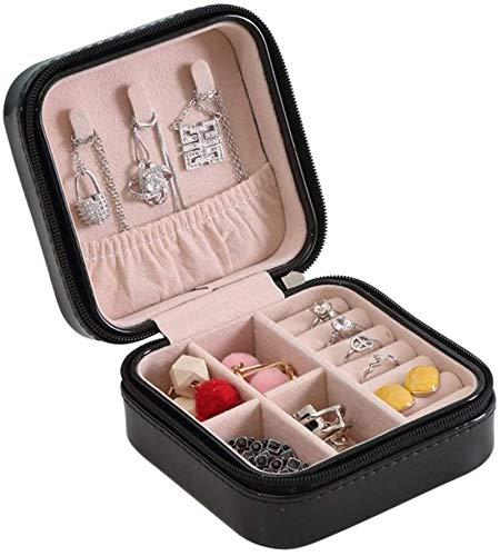 Multifunctional Caja de almacenamiento de joyas Pequeño viaje Portátil Joyería de almacenamiento, Pendientes Pendientes Pequeño Joyería Caja de joyería Gran regalo Joyas (Color: Rosa, Tamaño: Un tamañ