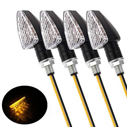 4pcs / set 15LED Luces de señal de giro Lámpara indicadora Accesorios universales de moto