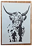 Solitarydesign Shabby Chic Schablone Scottish Highland Kuh Vintage A3420x 297mm Premium Möbel...