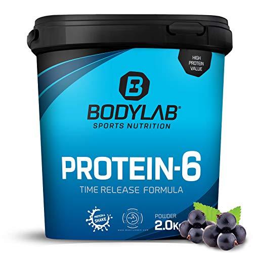 Bodylab24 Protein-6 Blaubeere 2kg / Mehrkomponenten Protein-Pulver, Eiweißpulver aus 6 hochwertigen Eiweiß-Quellen / Protein-Shake für Muskelaufbau