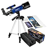 EMARTH Telescope for Kids Beginners Adult, 70mm Astronomical Refractor Telescope with Adjustable Tripod & & Finder Scope- Portable Travel Telescope Perfect for Kids Children Teens