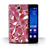 Stuff4 Phone Case for Huawei Honor 3C Red Fashion Glass
