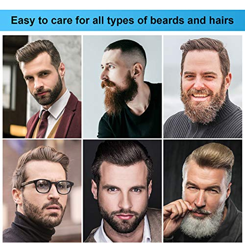 Beard Straightener Comb, Nivlan Upgraded Beard Straightening Brush for men with Anti-Scald and Fast Heating Technology, Portable Adjustable Temperature Heated Hair Straightener