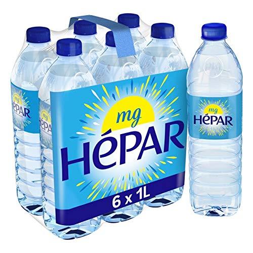 HEPAR - Eau Minérale 6X1L - Livraison Gratuite - Prix Par Unité