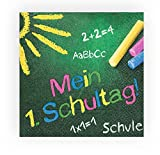 20 Servietten Farbige Schultafel/Schule/Schulanfang/Einschulung 33x33cm