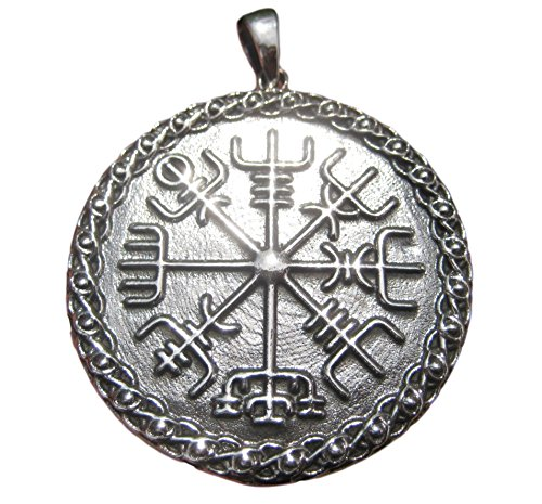 Himalaya Schatten 925 Zilver Viking Noorse Trident Aegishjalmr Aegishjalmur Helm van Awe Hanger A25