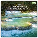 National Geographic Most Beautiful Places On Earth 2022 - Calendario da parete, 30,5 x 30,5 cm, confezione in plastica