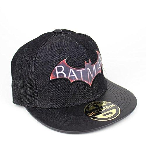 Batman Logo Herren Baseball Cap - Arkham Knight Denim Snapback Cap