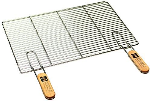 PG Metalltechnik Edelstahl Rost Grillrost - rechteckig und rund - Grill Rost Grössenauswahl (54 x 34 cm mit Griffen)