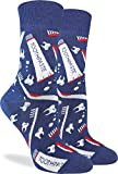 Good Luck Sock Women's Dental Hygiene Socks - Blue, Adult Shoe Size 5-9