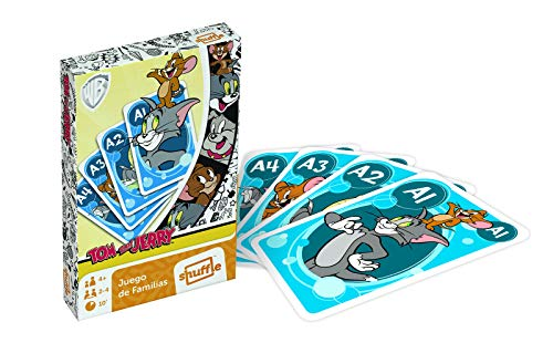 Shuffle Fun Tom & Jerry Gioco di carte, multicolore (Cartamundi 108488994)