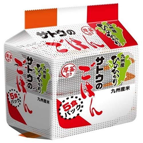 サトウ食品 サトウのごはん 九州産ひのひかり 5食パック (200g×5食)×8個入×(2ケース)