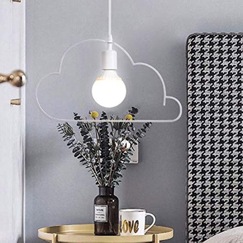 YWXLGHT Pendelleuchten Cartoon Warme Wolke Minimalistische LED-Lampen Für Wohnzimmer Esszimmer Schlafzimmer Mdchen Kinder Kinderzimmer Eisen Beleuchtung (Farbe   Wei, Gre   Kaltes Wei)