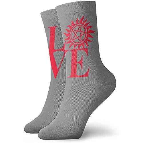 Be-ryl Love Supernatural Socks Hommes & Femmes Crew Socks Chaussettes Respirantes