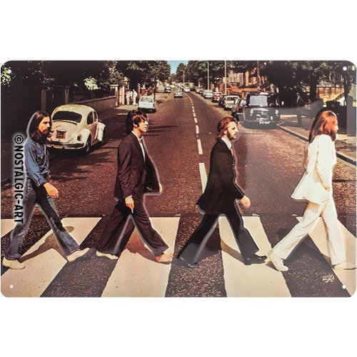 Nostalgic-Art 22261, Celebrities, The Beatles-Abbey Road, Blechschild 20x30 cm, Metall, Vintage-Design zur Dekoration, 20 x 30 x 0.2 cm