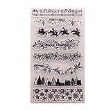 Exing Sellos Scrapbooking Clear Stamp, Árbol De Navidad DIY Sello Claro De Silicona Sello Adhesivo Libro De Recuerdos Relieve Álbum Decoración