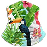 Mamihong Unisex Tropical Animal Toucan Vogel Pflanze Winter Nackenwärmer Gamaschen Haarband Kaltes Wetter Tube Gesichtsmaske Thermal Neck Scarf UV-Schutz Party Cover