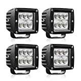 AUTOSAVER88 4PACK LED Pods 4' 32W, 3200LM Flood Off Road Fog Work Lights Super Bright Waterproof for Motorcycle Trucks Jeep ATV Boats