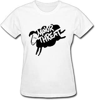 Duanfu Minor Threat Logo Women's Cotton Short Sleeve T-Shirt