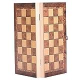 Alomejor Schach-Set aus Holz, tragbar, leicht, pädagogisches Schachbrettspiel, Reiseset, 34 * 34cm -