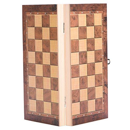 Hölzernes Schachspiel, das stark, langlebig und leicht zu tragen ist(#2)