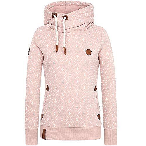 Coloody Felpe con Cappuccio Donna Invernale Autunno Stampa Manica Lunga Cappotto Giacca Felpa con Sweatshirt Hoodies Donna