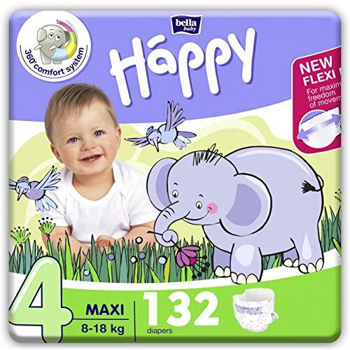 Bella Baby Happy Lot de 132 couches Taille 4 Maxi