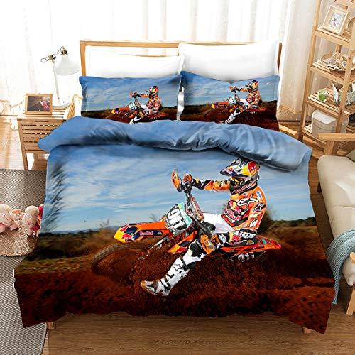 SK-PBB Motocross, Bettbezug, Fotografie, Jugendbettwäsche, Stoff, einschließlich Kissenbezug (8,135 x 200 cm)