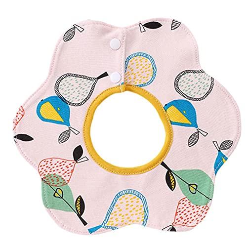 Toalla de saliva absorbente absorbente absorbente del algodón de la flor del babero bebé, para el súper absorbente del niño recién nacido (estilo4)