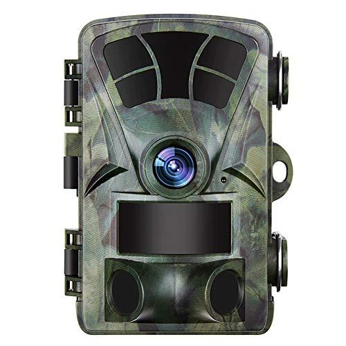 DINGYUFA Jagd-Kamera 1080P Tier-Scouting Trail Camcorder IR-Nachtsicht IP56 wasserdichte Weitwinkel Aktion DV-Motion-Kamera für den Außenbereich