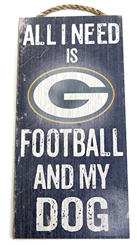 Green Bay Packers, Wall Decor, Dog Sign, NFL ,