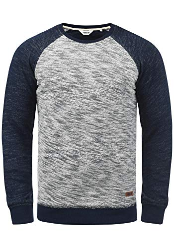 !Solid Flocker Herren Sweatshirt Pullover Flocksweat Pulli Mit Rundhalsausschnitt Aus 100{43ef51502f0e8ce90c1d8563d73915cba7f0ff1fd66286cd9afbaf29b8fa5ec2} Baumwolle, Größe:M, Farbe:Insignia Blue (1991)